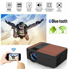 New ListingPortable 1080P WiFi Home Theater Projector Android Blue-tooth for Movies Games