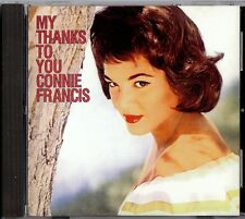 CONNIE FRANCIS - MY THANKS TO YOU   CD  1997  POLYGRAM