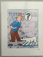TinTin - Hand Drawn & Hand Painted Cel