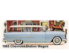 1955 Chevrolet Station Wagon  Auto  Refrigerator Magnet