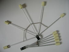 Feuerfächer faltbar 5 heads Paar fire fans mit 5cm Kevlar® & Aluminium Pois Poi