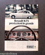 [GCG] N990 - Advertising Pubblicità - 1970 - RENAULT 16 TS,PRESTAZIONI IN GRANDE
