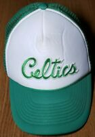 Vintage Boston Celtics Snapback Trucker Hat Cap OTTO Brand NBA Rare Green White