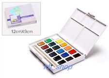 Talens Solid Water Color 18 Petit Color Assorted Pocket Sketch Water Brush Set