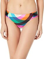 Trina Turk Womens 246049 Shirred Side Hipster Pant Bikini Bottom Swimwear Size 8