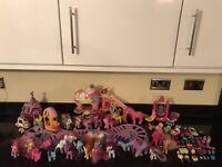 Huge Bundle My Little Pony Ponies Playset accessories Toys Bundle Toy Job Lot