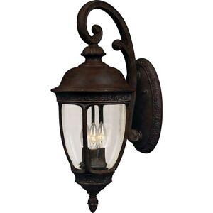 Maxim Knob Hill Cast 3-Light Outdoor Wall Lantern Sienna - 3465CDSE