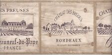 Wine Crate Lids Wallpaper Border TK6460B