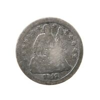 Raw 1842-O Seated Liberty 10C Uncertified Circulated New Orleans Mint Silver