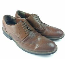 Men's Penguin Shoes by Munsingwear Wingtip Brogue Brown Leather  10 WELTON