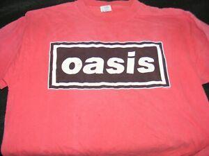 VINTAGE OASIS US Red West TOUR Dates Back Original T-SHIRT Extra Large Origl 90s