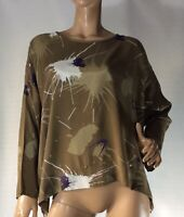 🌻 MASAI SIZE M OVERSIZED ABSTRACT PRINT TOP