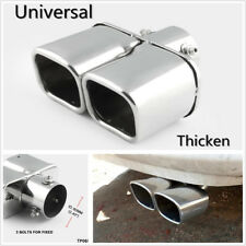 "2.4""Stainless Steel 1to2 Twin Double Dual Straight Pipe Exhaust pipe Muffler tip"
