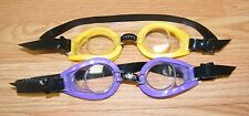 Intex Purple & Yellow Frames - Black Adjustable Straps & Nose Piece Swim Goggles