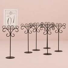 Ornate Black Table Number Holder with Round Base