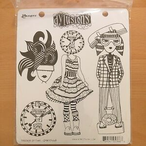 Dyan Reaveley Dylusions Cling Stamps Passage Of Time DYR53668