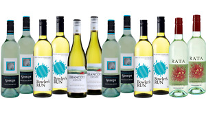 Premium Mixed White Wines from Australia and New Zealand 12x750ml Free Shipping