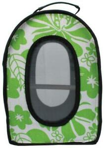 "A&E Cage Co. Happy Beaks Soft Sided Bird Travel Carrier, Green, 13.5""X 9""X 18.5"""