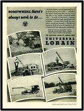 1935 Universal Lorain  Truck Crane New Metal Sign:  On Ford, Mack, Federal, ++