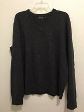 POLO RALPH LAUREN Lambs Wool V-Neck Pullover Sweater Men's Size Large