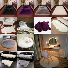 40-180cm Fluffy Bedroom Faux Fur Fake Wool Sheepskin Rugs Carpet Floor Mat Home