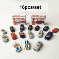 16pcs 4D Vehicle 1:87 Scale Display  Double door Car  Automobile Model Kit Toy