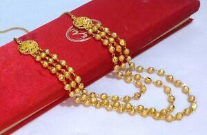 South Indian Choker Gold Plated Bollywood Fashion Pakistani Mohanmala Set Women