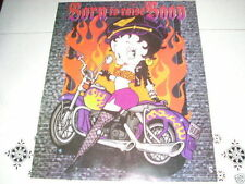 BETTY BOOP on Motorcycle 16x20 Poster Born to Raise Boop!