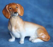 Vintage DACHSHUND Dog Figure Austria Royal Vienna WEIN Porcelain Shield Mark
