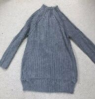 Oska Fluffy Grey Jumper M
