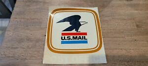 US Post Office Vintage Window Sticker Sign US MAIL 1970 New Old Stock - USPS