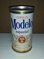 "Vintage Cerveza Modelo especial Beer can Steel 1970""s Vintage Blue Gold & Red"