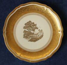Rosenthal Porzellan Chippendale 1953-1956 gold Sammelteller 33cm Schäfer VI4-65