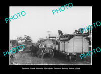 OLD POSTCARD SIZE PHOTO EUDUNDA SOUTH AUSTRALIA THE RAILWAY STATION c1900