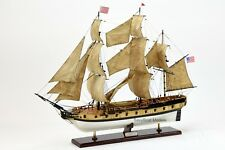"Handmade Wooden USS Rattlesnake Tall Ship Model 28"" Museum Quality"