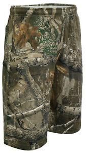 Realtree Premium Jungle Fishing Print Fleece Summer Shorts Casual Relax M - 2XL