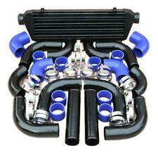 "12Pcs 28""x7""x2.5"" Front Mount Intercooler BLUE COUPLER/PIPING KIT/T-Bolt CLAMPS"