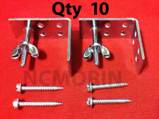 Qty. (10) Roman Shade Mounting Installation L-Brackets with Screws