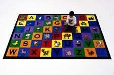 Educational Rug For Schools  Day Care  Kids Room 7' X 11'  CHARLIE & FRIENDS.