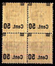 ITALIA - Regno - 1923/27 - Francobolli del 1901-20 - sovr. 50 su 40 c. - Varietà
