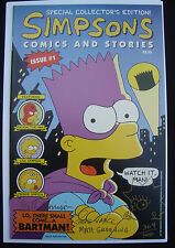 The Simpsons Comics And Stories 1 Signed Sketch Matt Groening #/500 Maggie