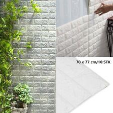 10 Tlg 3D Tapete Wandpaneele Selbstklebend Ziegel Wasserfest Wandaufkleber  DE