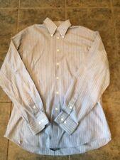 John Ashford Mens Dress Shirt Fitted Size Medium Blue