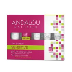 Andalou Naturals Get Started Sensitive Skin Care Essentials 5 Piece Kit Pink