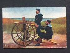 Vintage PC: Military: #M284: Blue Jackets Firing Maxim Gun: Raphael Tucks