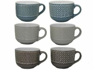 1 Tazzone Tazza Colazione Latte Jumbo Stoneware 530 ml 6 Colori