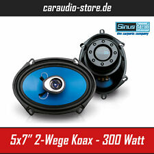 "Sinustec ST-170c 2-Wege Koaxial oval Lautsprecher 5x7/"" Boxen 19x14cm 300 Watt"