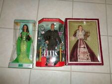 Barbie Dolls Lot of 3 Elvis Army Birthstone August Victorian with Cedric Bear