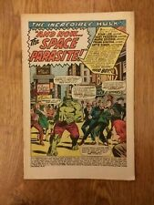 Incredible Hulk #103 -1968 Marvel Comics The Space Parasite missing cover
