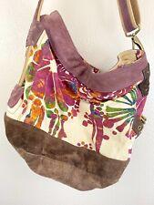 Lucky Brand Vintage Inspired Canvas & Leather Shoulder Crossbody Weekender Bag